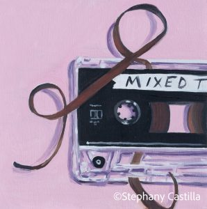 My 80s Mixed Tape oil painting